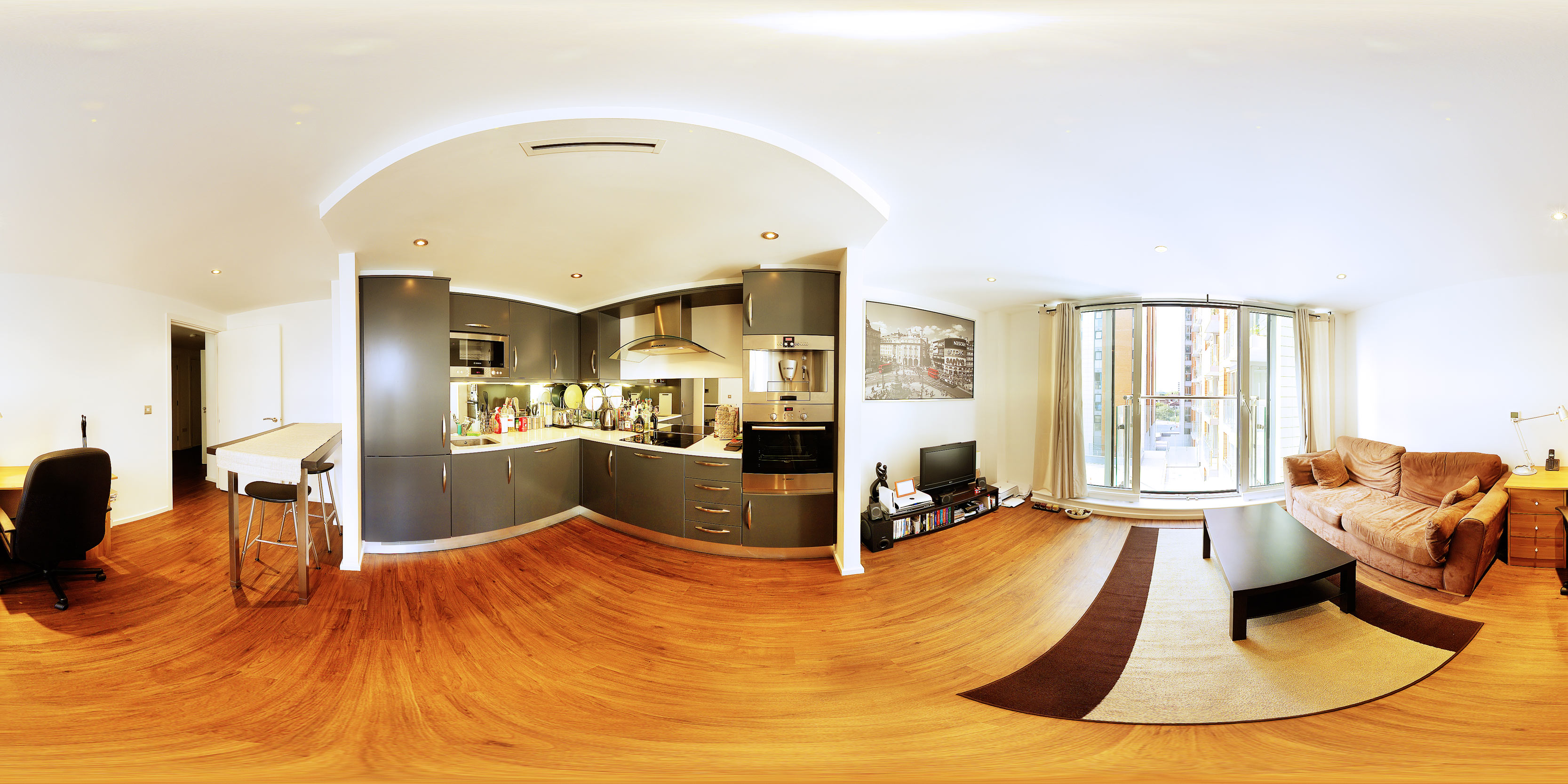 Example panorama. Interior ...